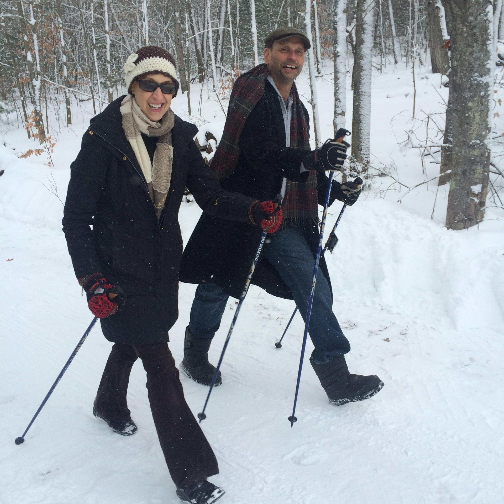 Nordic Walking Poles for all seasons. Hiking and trekking. The next best thing to Nordic Skiing - cross country skiing.